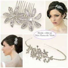 Bridal Hair Accessories and Jewelry by Hair Comes the Bride ~ #bride #bridal #wedding #bridalhair #weddinghair #bridalhairaccessories #weddinghairaccessories #bridaljewelry #weddingjewelry