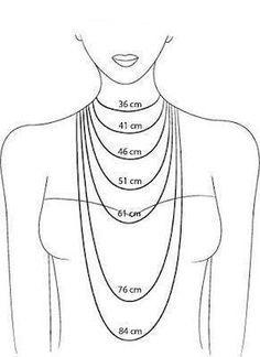 Les différents rendus pour choisir la longueur des colliers.