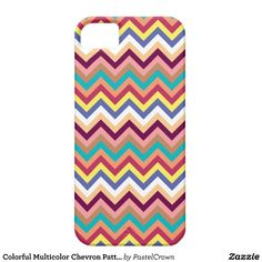 Colorful Multicolor Chevron Pattern iPhone 5 Cases #iphone #iphonecase #iphonecover