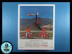 Items similar to Honda Scooter Clock, Vintage Mid Century Modern Advertisment, Handmade, Custom Order! on Etsy Honda Scooters, Retro Home Decor, Video Photography, Vintage Ads, Vintage Kitchen, Mid-century Modern, 1960s, 3d Printing, Mid Century