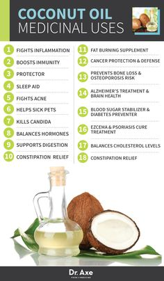 Coconut Oil Medicinal Uses http://www.draxe.com #health #Holistic #natural