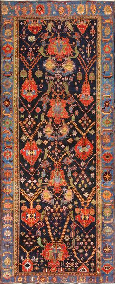 Colorful Antique Persian Bakhtiari Rug 48728