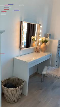 Malm sminkebord fra Ikea Ore makeup table from Ikea Ore makeup table from Ikea. spiel Ikea Interior Skeidar The post Malm makeup table from Ikea appeared first on the Zimmer idea. Ikea Interior, Interior Design, Makeup Room Decor, Makeup Rooms, Ikea Malm Dressing Table, Dressing Table Mirror, Dressing Table With Lights, Dressing Table Inspo, Ikea Dressing Room