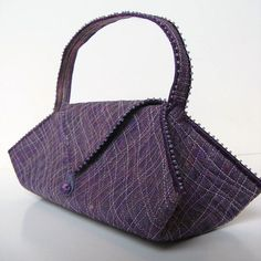 Mauve shimmer bag by Tors Duce - art of the accessory, via Flickr ... lovely inspiration