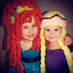 Crochet princess wigs/hats