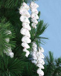 Bernat: Pattern Detail - Handicrafter Holidays - Icicle Ornaments (crochet) Christmas