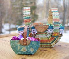easter baskets folded