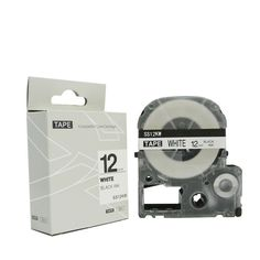Label Tape SS12KW(LC-4WBN9) black on white 12mm*8m compatible for  Epson LW-500