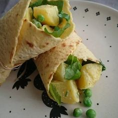 Wrap à l'indienne Guacamole, Veggies, Ethnic Recipes, Food, Vegetarian Cooking, Healthy, Indian, Greedy People, Essen