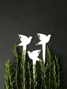 3 Bird Plant Markers Garden Stakes Spring Summer Garden Decor Mini  Sculptures Useful Gardening Gift For Gardeners Women Grandparents Friends