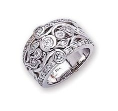 Like this wide-band diamond ring.