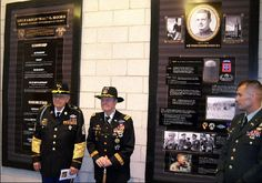 "The 7th U.S. Cavalry NEWS.    Gen(Ret) Hal Moore and SGM Plumley at the dedication of the LTG Hal Moore ""Warrior Athlete of Excellence Award"" ceremony at West Point."