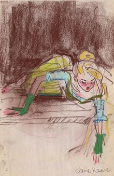 Costume design sketch for Rapunzel - Claire Keane