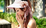 [Meeting] Korean version of the super-gifted lady summer hat sun hat sun hat cotton hat leisure from taobao