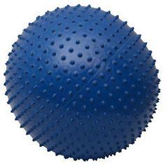 55cm PVC Yoga Massage Ball Fitness Yoga Exercise Ball Blue+ Air Pump