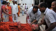 An injured Buddhist monk receives medical treatment at a hospital in Gaya, following eight low-intensity serial blasts at the Bodh Gaya Buddhist temple complex, on July 7, 2013. What Mecca is to Muslims and The Temple Mount is to Jews, the Bodhi tree is to Buddhists.