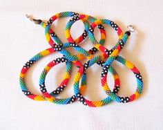Perles au Crochet corde Collier perles rocaille perles par lutita