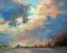 New Dawn - Happy New Year, painting by artist Mary Maxam