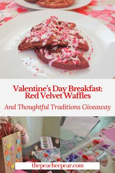 We're kicking off our Valentine's Day series with a special breakfast, a healthy Red Velvet Waffle recipe and a special giveaway from Thoughtful Traditions! These waffles are gluten-free, dairy-free and refined sugar-free.  via @ThePeacheePear