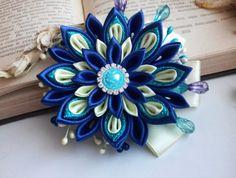 Clip di tessuto fiore capelli clip/Kanzashi fiore di AirinFlowers