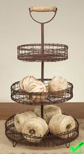 Image result for 3 tier metal fruit stand