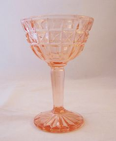 Vintage Pink Glass Ice Cream/Sundae Dish by thesecretcupboard, $7.20