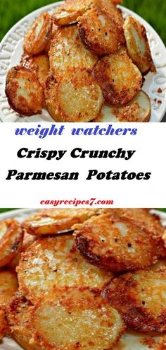 Crispy Crunchy Parmesan Potatoes - Happy Cooking , In the food recipe that you read this time with the title C Ww Recipes, Side Dish Recipes, Veggie Recipes, Cooking Recipes, Healthy Recipes, Recipes Dinner, Parmesan Recipes, Vegetarian Potato Recipes, Recipies