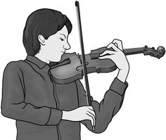 Violinist / Grayscale images.