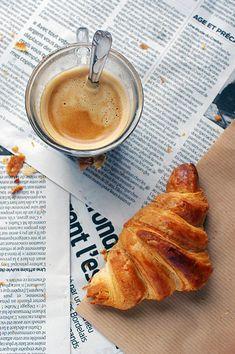 Simple Coffee + Croissants | Image Via Pinterest