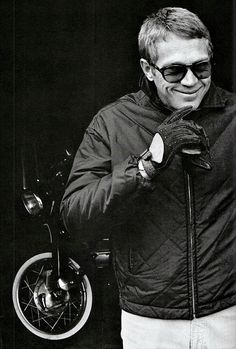 Steve McQueen photographed by William Claxton, c. 1963.
