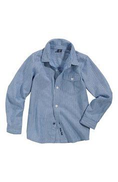 De fedeste Buttermilk Skjorte Jeansblå Buttermilk  til Børn & teenager til hverdag og fest