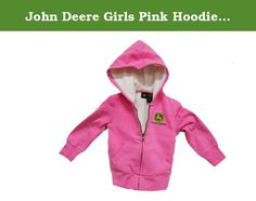 John Deere Girls Pink Hoodie Sweatshirt (M (5/6)). This John Deere long sleeve hooded zipper hoodie sweatshirt is constructed to the same quality standards employed by John Deere since 1837. This John Deere young girls sweat shirt hoody is rugged enough to stand up to the demands of life on the farm, yet stylish enough to wear to school or for play. Top features exciting John Deere logo graphics, ribbed cuffs, front pocket, and a sherpa lining . Perfect choice for any John Deere or…
