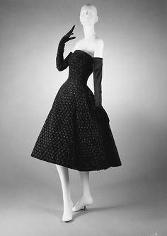 "F/W 1955-1956, France - Silk dress ""Soirée de New York"" by Christian Dior"