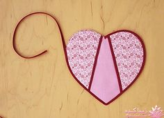 for Your Favorite Cook Heart-Shaped Pot Holders - Step 4 - Heart-Shaped Pot Holders - Step 4 - Easy Sewing Projects, Quilting Projects, Sewing Crafts, Potholder Patterns, Sewing Patterns, Patchwork Heart, Quilted Potholders, Fabric Hearts, Martha Stewart Crafts