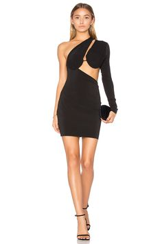BEC&BRIDGE Warriors Keeper Asymmetrical Dress in Black | REVOLVE