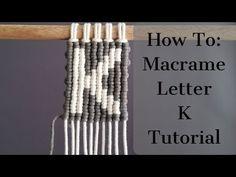 Macrame A to Z Series - Letter K Using Vertical Double Half Hitch Knots! Macrame Earrings, Macrame Bag, Micro Macrame, Chevron Friendship Bracelets, Friendship Bracelets Tutorial, Bracelet Tutorial, Half Hitch Knot, Macrame Wall Hanging Diy, Tatting Jewelry