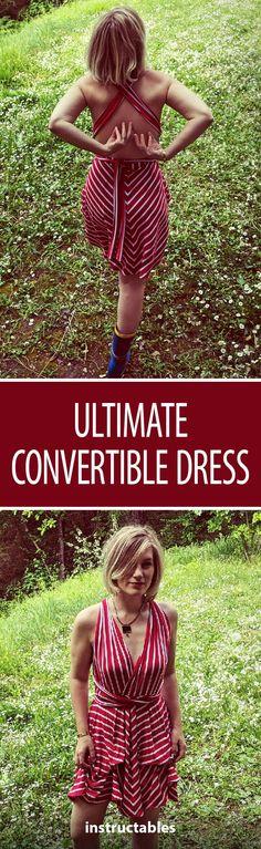 Ultimate Convertible Dress  #fashion #sewing