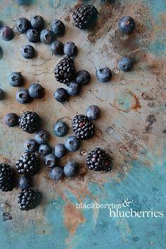 .Blackberries and blueberries