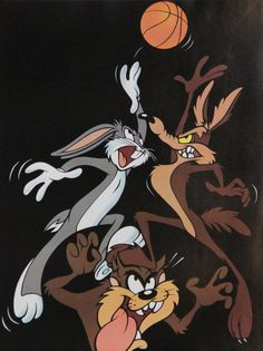 Artist: Warner Brothers Title: Bugs Bunny, Wile E. Coyote, and Taz Play Basketball Medium: Poster Size: in. Looney Toons, Looney Tunes Cartoons, Looney Tunes Wallpaper, Cartoon Wallpaper, Halloween Wallpaper Iphone, Disney Wallpaper, Henri Matisse, Bugs Bunny Cartoons, Collage Des Photos