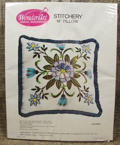 Vintage WonderArt Stitchery Crewel Kit For by MileHiVintageandMore