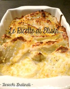 Finocchi gratinati, ricetta contorno gustosa Macaroni And Cheese, Vegetarian, Ethnic Recipes, Food, Contouring, Vegan, Mac And Cheese, Essen, Meals