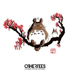 """""""Totoro traditional"""" by Theduc T-shirts, Tank Tops, Sweatshirts and Hoodies are on sale until 15th October at www.OtherTees.com Pin it for a chance at a FREE TEE! #totoro #ghibli #miyazaki #hayaomiyazaki #studioghibli #myneighbortotoro #othertees #tshirts"""