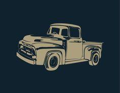 Vintage Pick Up Truck // Swede Cottage Farm //