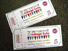 Ticket Innocent village fete