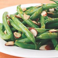 Orange-Scented Green Beans with Toasted Almonds  - EatingWell.com