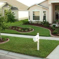 Front yard ideas...love how clean it looks!