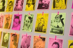 Pictures of Reegan on neon paper for her 3rd birthday party! harding [family] happenings