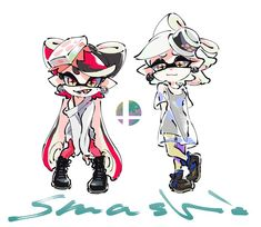 Smash Ready Callie and Marie Splatoon 2 Art, Splatoon Comics, Splatoon Memes, Squid Games, Splatoon Squid Sisters, Callie And Marie, Video Games Girls, Super Smash Bros, Animal Crossing