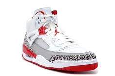 cheaper 9610f 02a20 Air Jordan Spizike Wit Feuerrood Online fashion sneakers modern style with  a big off is here ,Don t miss it .