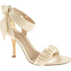 @Overstock - A stylish two piece sandal with an adjustable ankle strap and heel cup detail. Features ornamentation on the ankle strap for added glam.http://www.overstock.com/Clothing-Shoes/Womens-Unlisted-by-Kenneth-Cole-TV-List-Ivory-Wet-Satin/7334460/product.html?CID=214117 $41.95